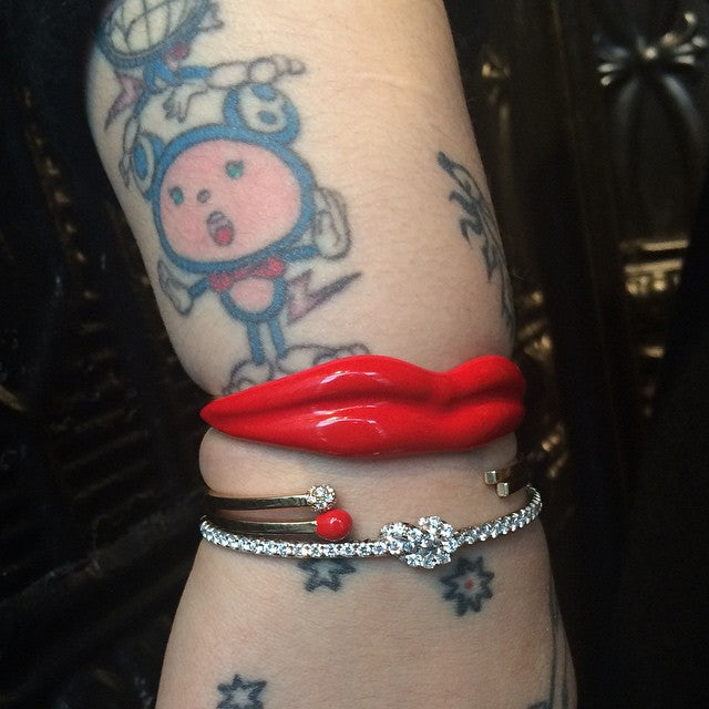 Man Ray Lips Cuff