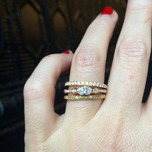Unique designer oval diamond engagement ring