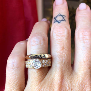 grace lover rings on finger