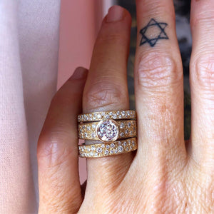 grace 14k diamond ring on finger