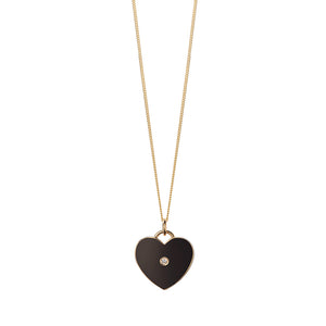 Alfie Heart Black Pendant