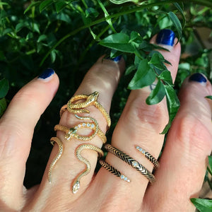 serpent rings 14k on hand