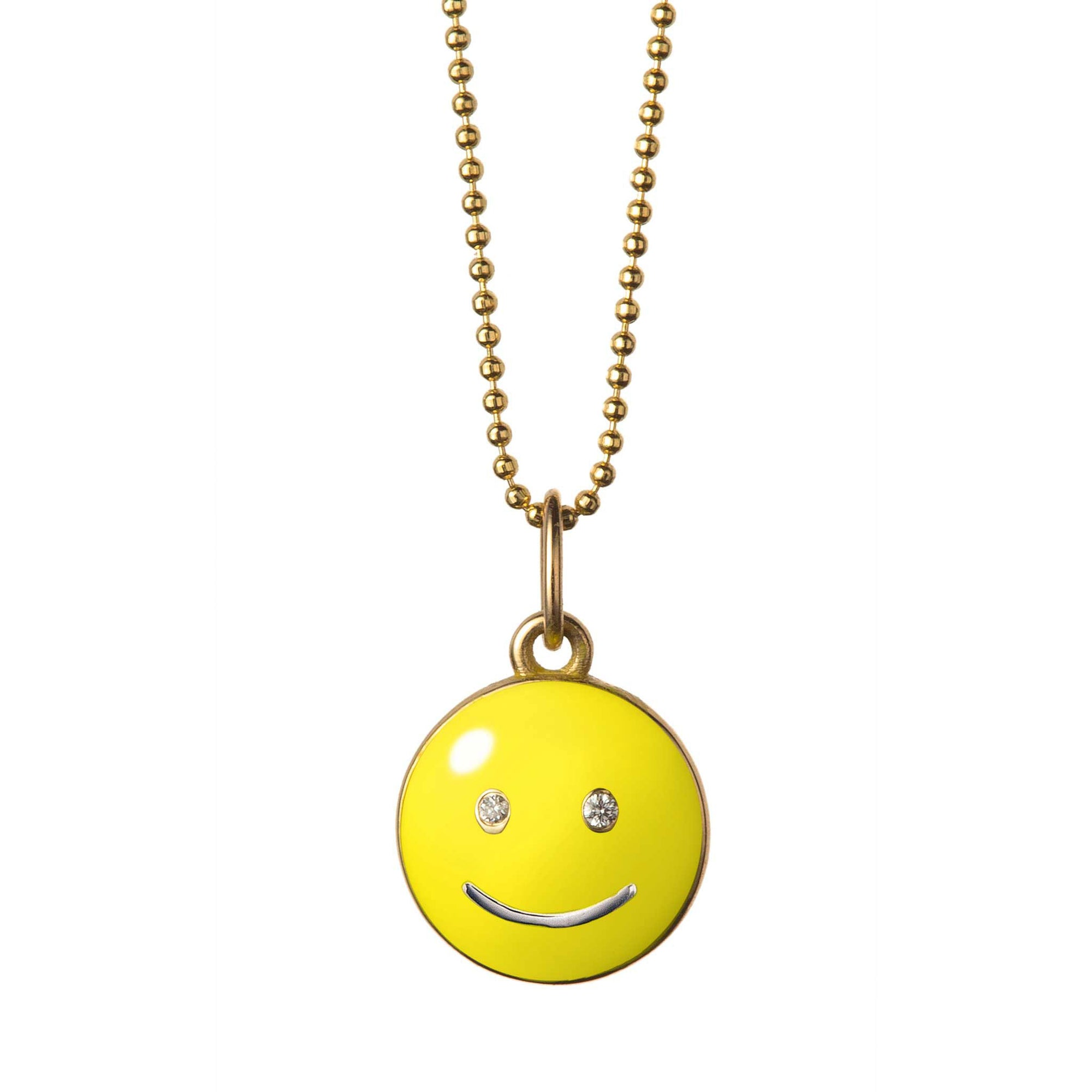baby smile necklace 14k yellow