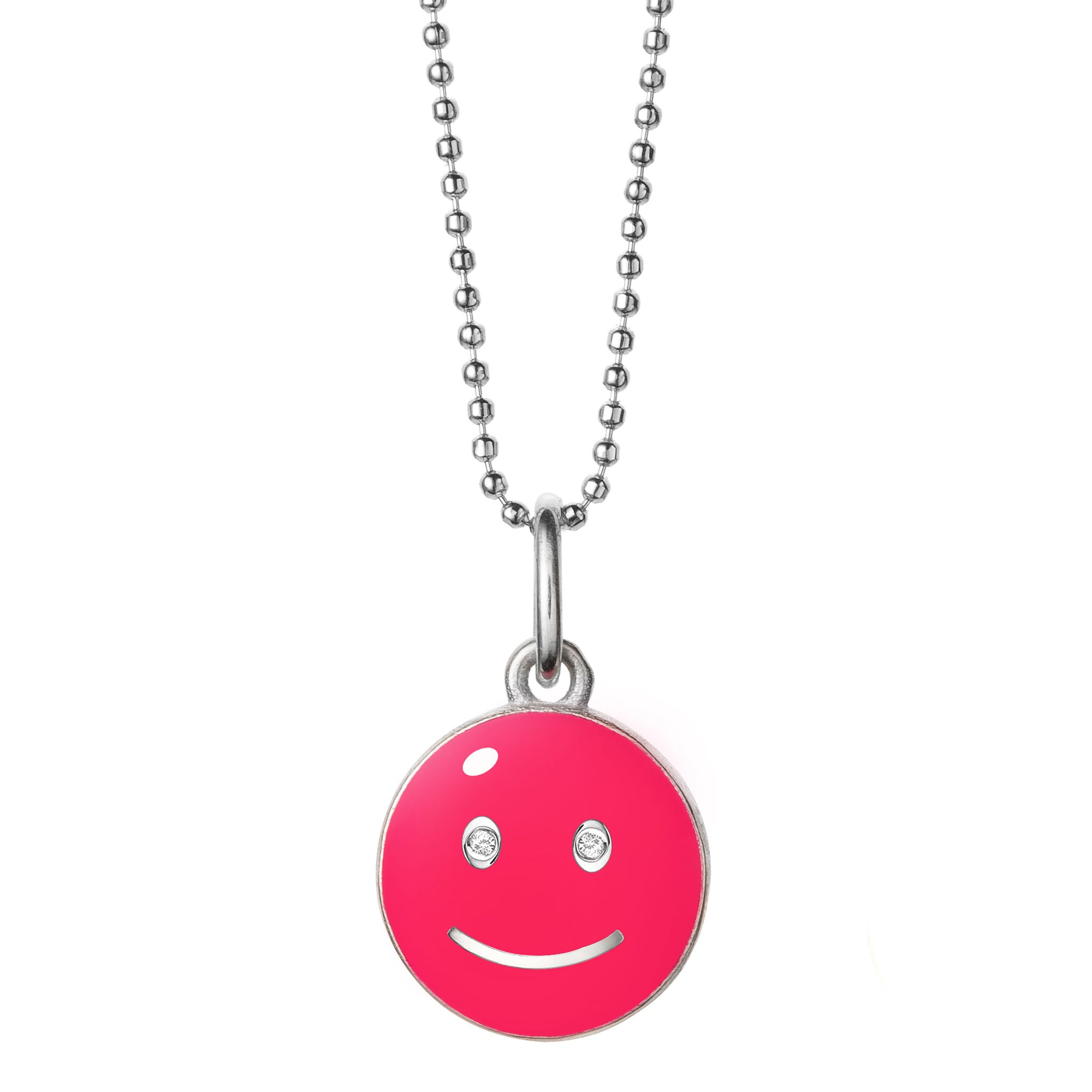 baby smile pendant sterling neon-pink