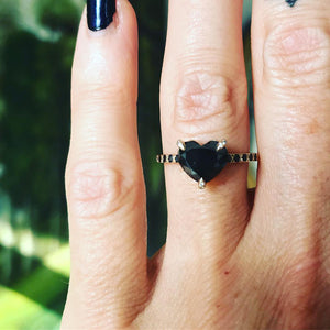 Black Sweetheart Ring