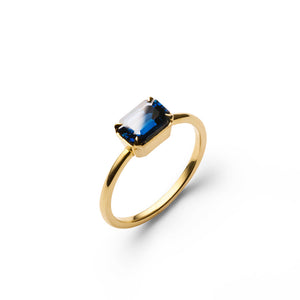 Unique designer sapphire engagement ring