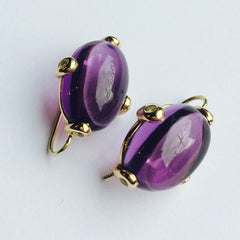 Muriel Earrings Amethyst