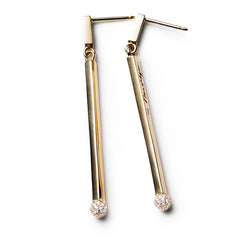 Diamond Matchstick Earrings