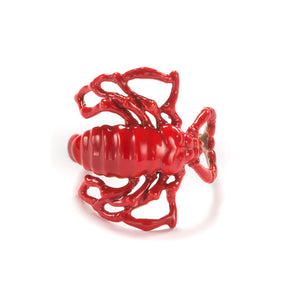 Scorpion Ring Red