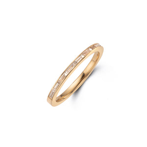 skinny wedding band 14k diamonds