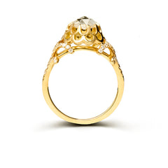 Heirloom quality designer diamond engagement ring