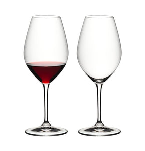 Riedel Set of 2 Double Magnum Crystal Glass