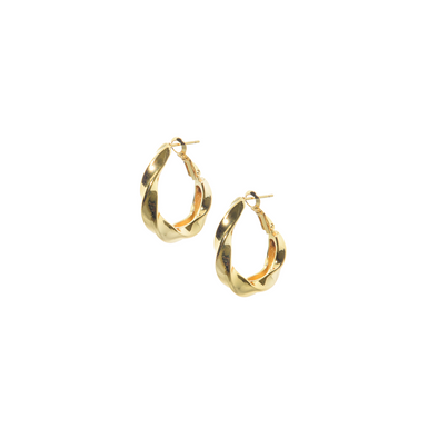 Argollas Twist gold