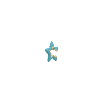 Ear Cuff Gold Star Turquesa