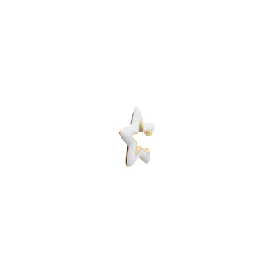Ear Cuff Gold Star blanca