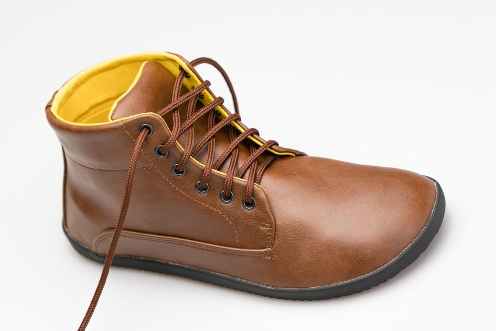 Ahinsa Comfort  Ankle Lifo+ Light Brown - comfort vegan ethical vegetarian handmade by Ahinsa shoes®