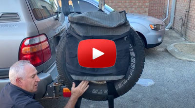 How to attach Rear Wheel Storage Bag