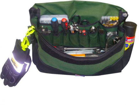Deluxe Canvas Tool Bag-Large With Tools In Displaying