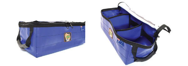 Small Marine Grade Storage Bag with Clear top and dividers