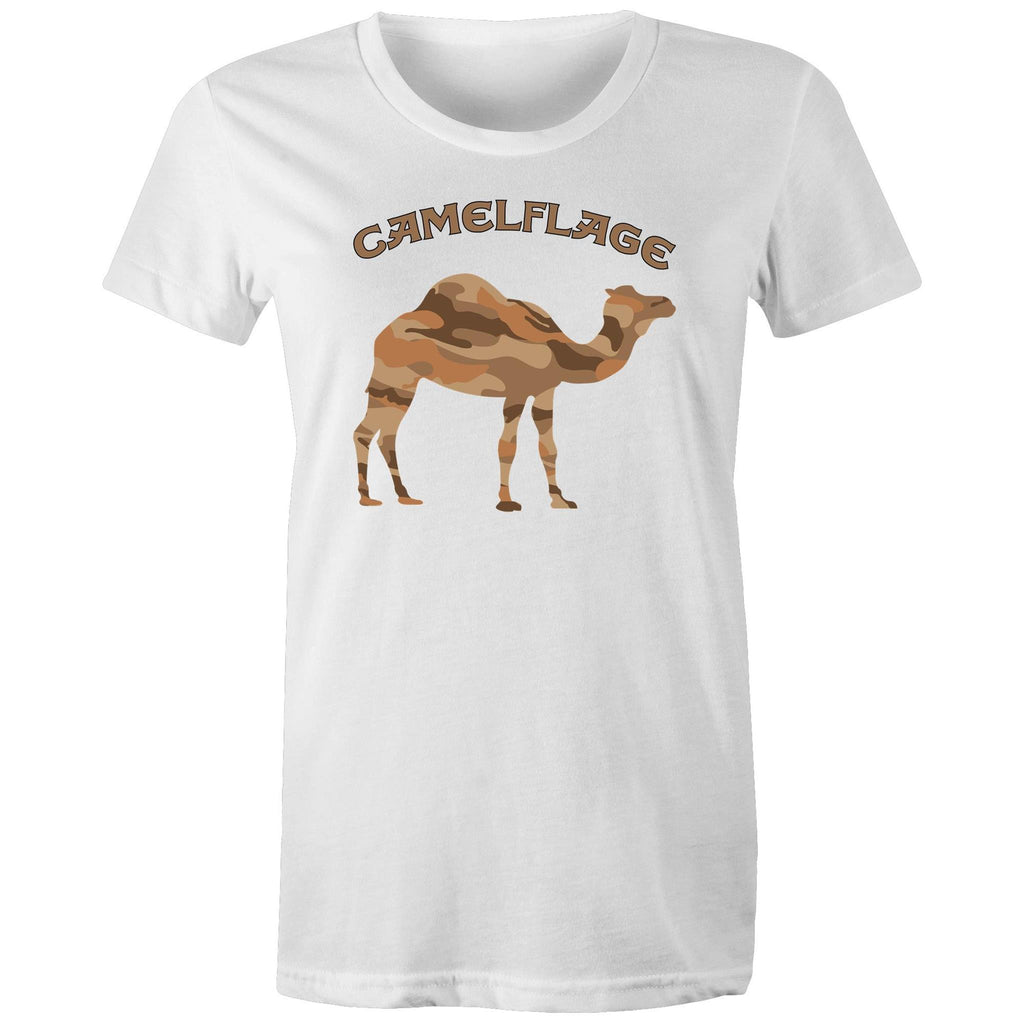 Women's White Camelflage Shirt