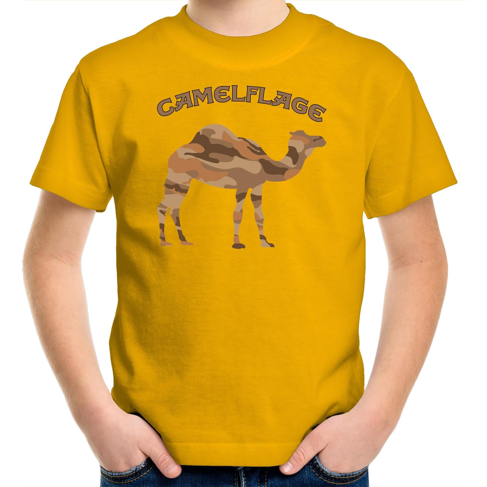 Kids Yellow Camelflage Shirt