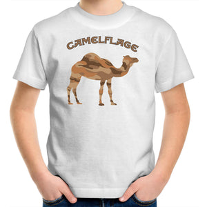 Kids White Camelflage Shirt