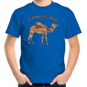 Kids Blue Camelflage Shirt