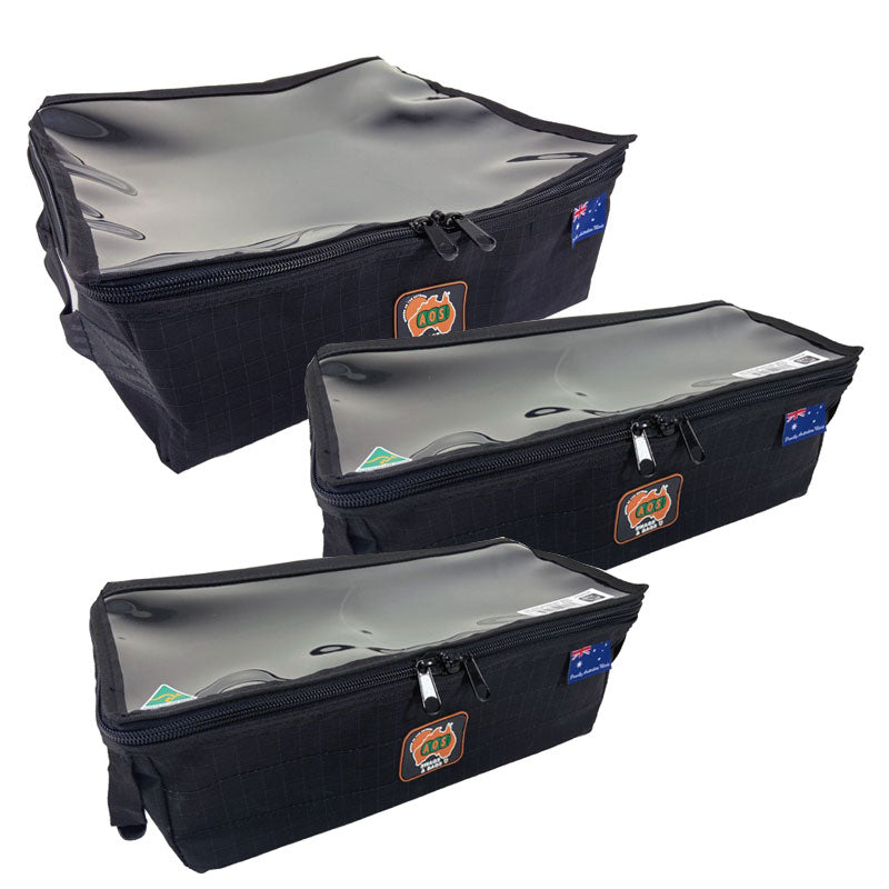 Black Storage Bag Bundle with clear top