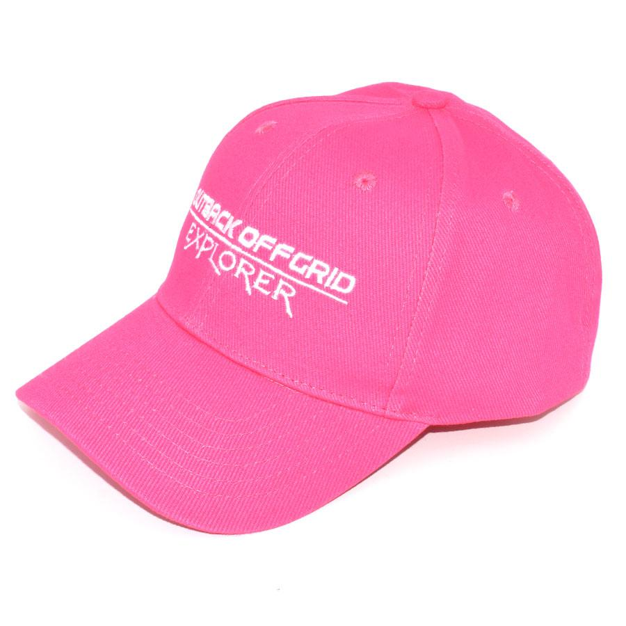 Explorer Cotton Cap Left Side Hot Pink