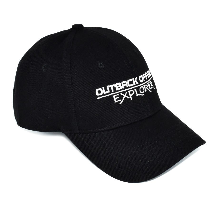 Explorer Cotton Cap Right Side Black