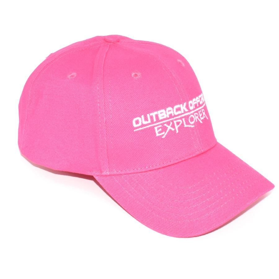 Explorer Cotton Cap Right Side Hot Pink