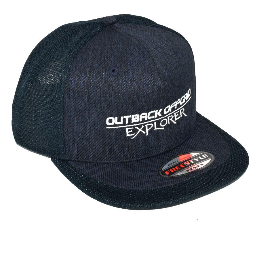 Explorer Flat Peak Cap Right Side Navy Blue