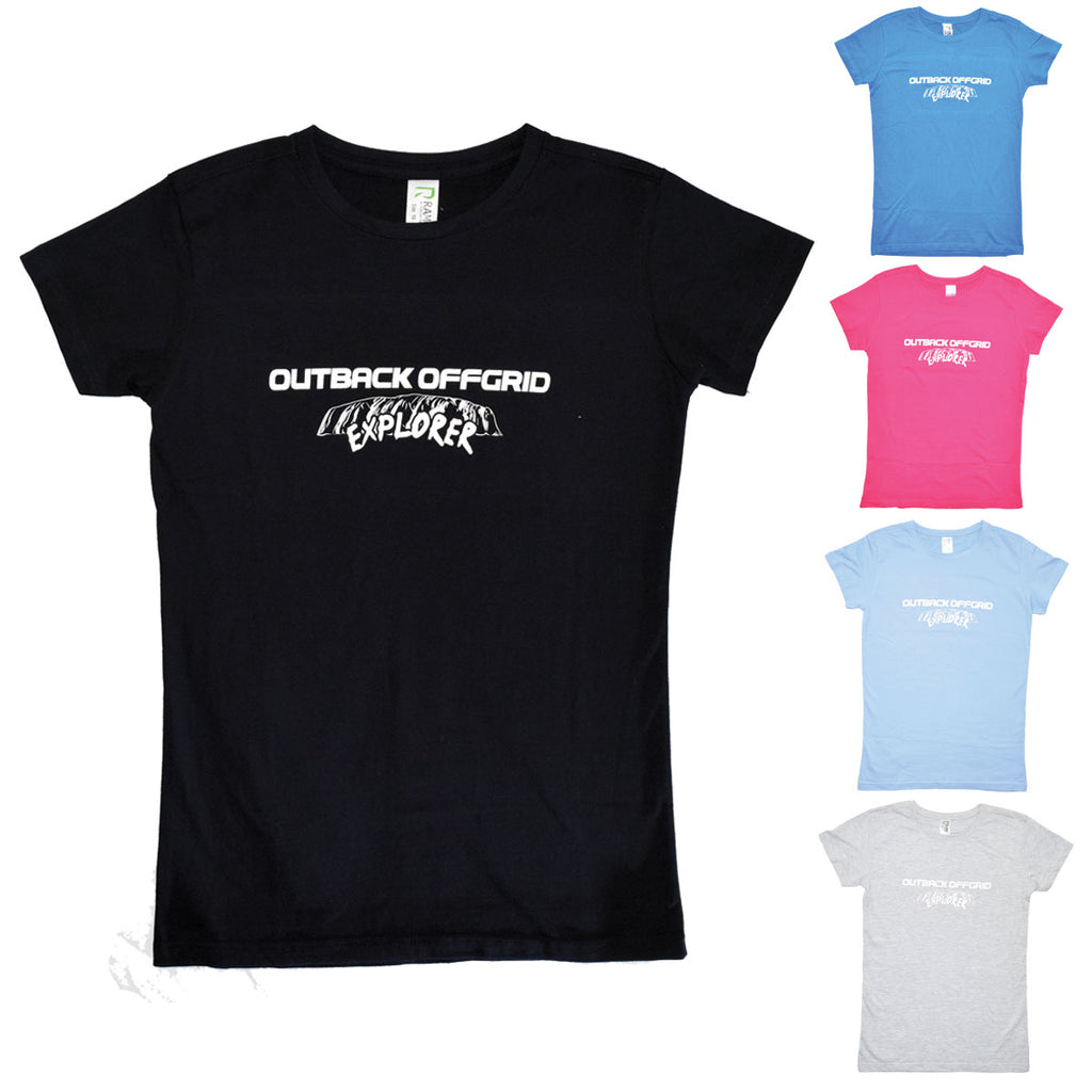 Outback Offgrid Tshirt showing multiple colours