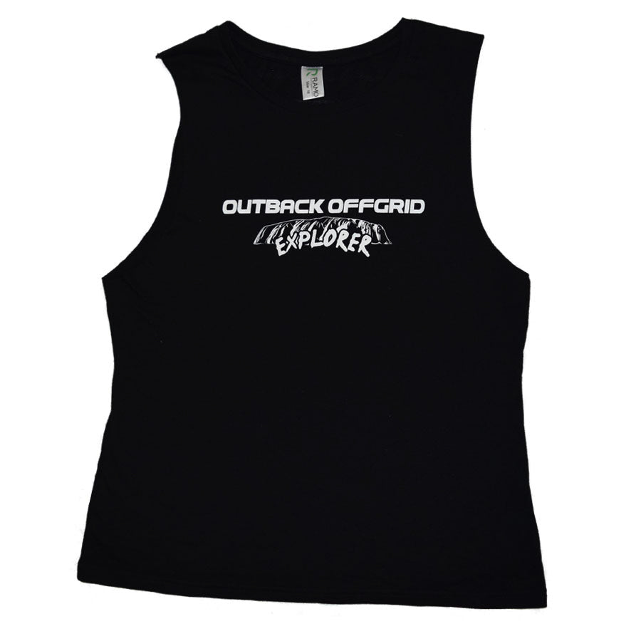Ladies Explorer Tank Shirt Front Black