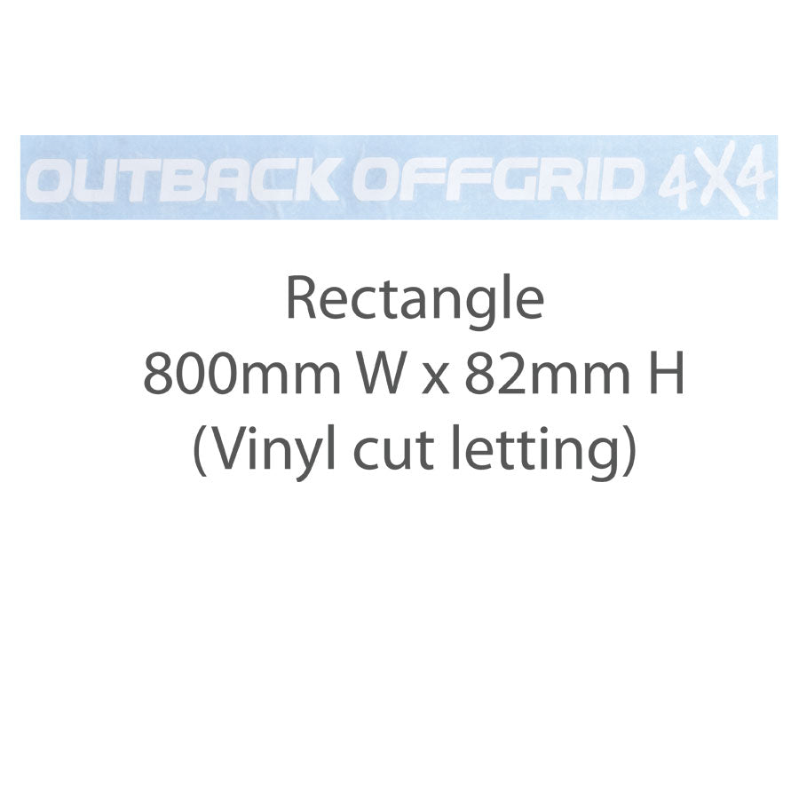 Outback Offgrid4x4 Windscreen Sticker