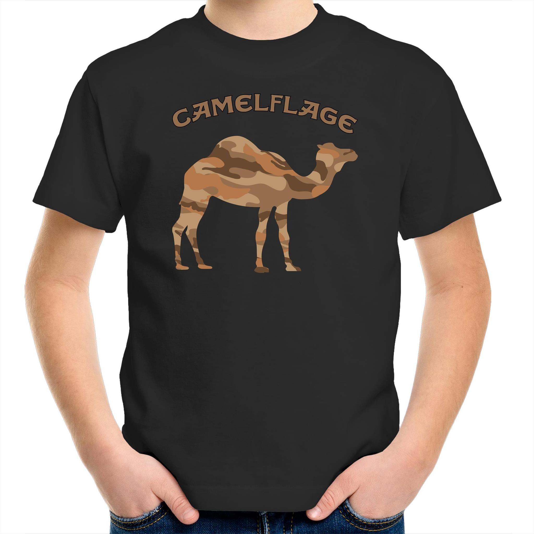 Kids Black Camelflage Shirt