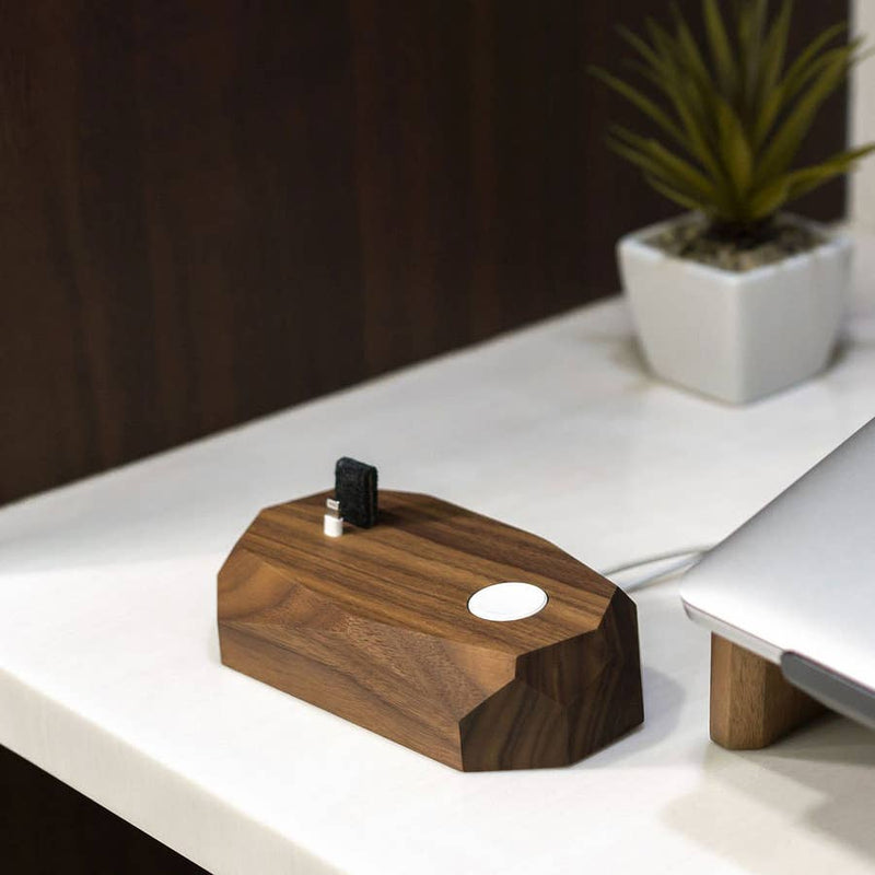 Walnut - Combo dock Of iPhone And Apple Watch