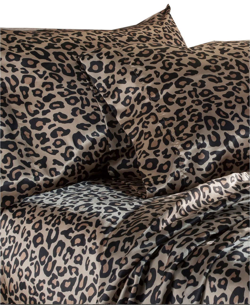 DF Elite Luxurious Satin Sheet Sets, (Leopard.)