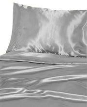 Load image into Gallery viewer, DF Elite Luxurious Satin Sheet Sets, (Silver.)