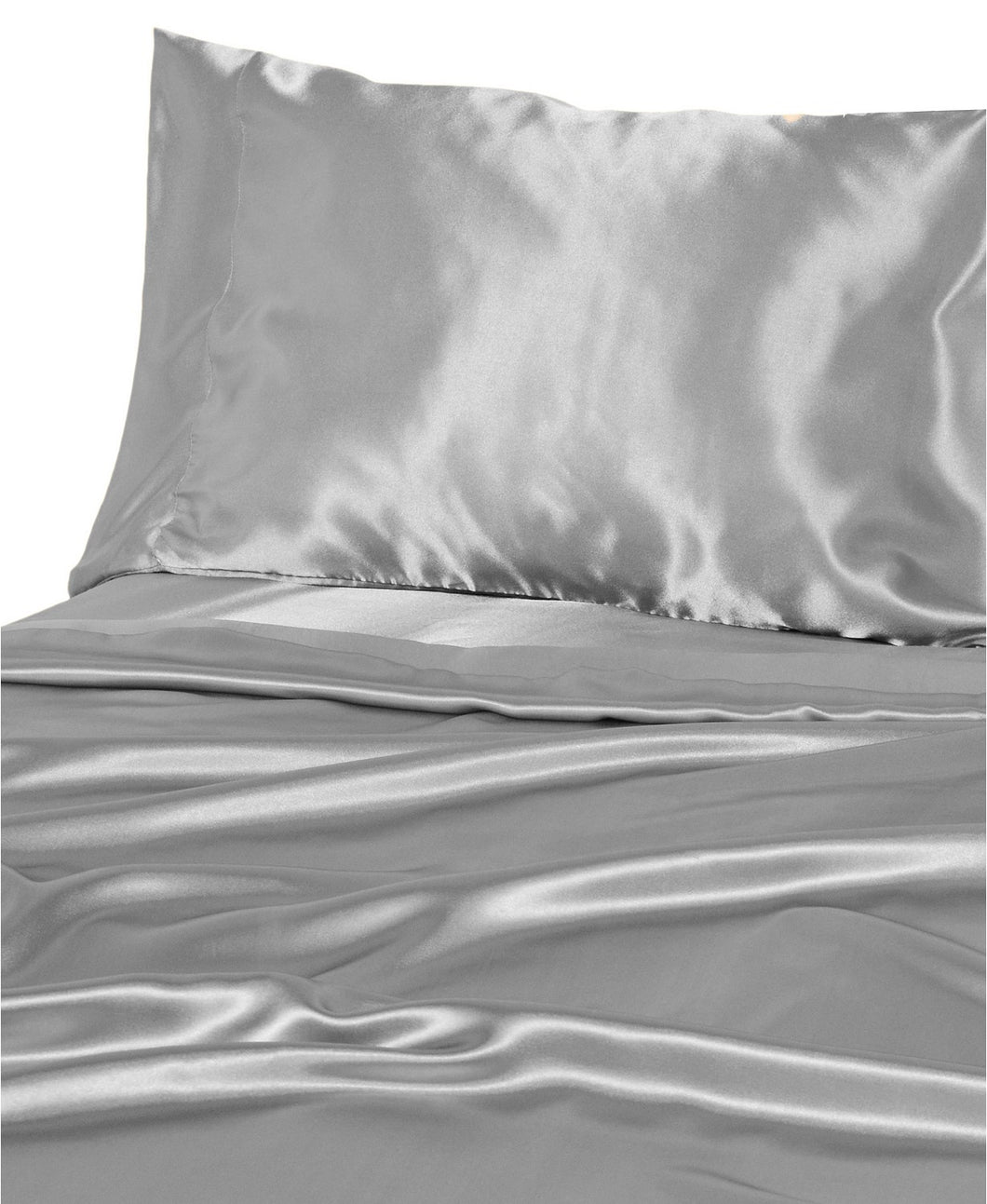 DF Elite Luxurious Satin Sheet Sets, (Silver.)