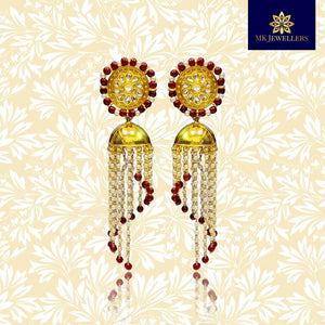 Handpainted Meenakari Jhumka Jhumki Earrings to Transform Your Look