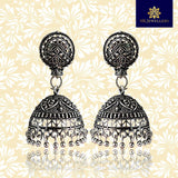 Traditional Oxidized Silver Plated Antique Jhumki Earring