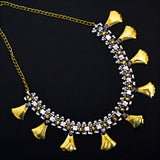 Oxidized German Silver Vintage Leaf Necklace For Women And Girls