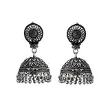 Oxidized Silver lightweight Jhumki Earrings For Women And Girls
