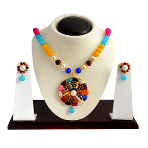 Traditional Pachi Necklace Set for Girls Women Multicolor