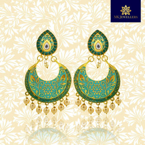 Stylish Meenakari Chandbali Earrings for Girls and Women