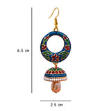 Exclusive Meenakari Blue Color Bali Jhumki Earrings For Women And Girls