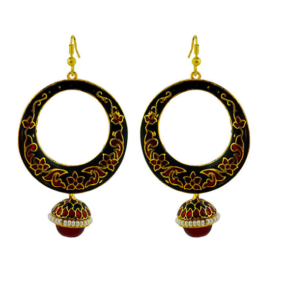Classic Enamelled Chandbali Jhumki Earring For Women And Girls