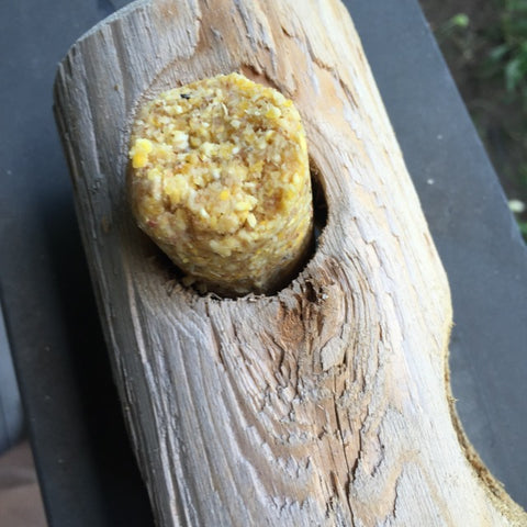 Suet Plug Loose in Log Feeder