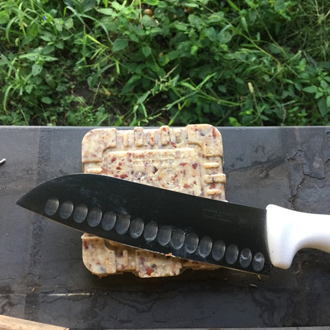 Suet Cake and Knife